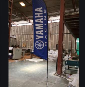 High Quality Yamaha Feather Flag Sign Custom
