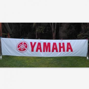 Rectangle Custom Logo Yamaha Motor Advertising Banner