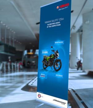Yamaha Motor Logo Advertising Roll Up Stand