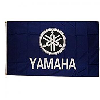 Polyester Yamaha Logo Advertising Banner Yamaha Advertising Flag