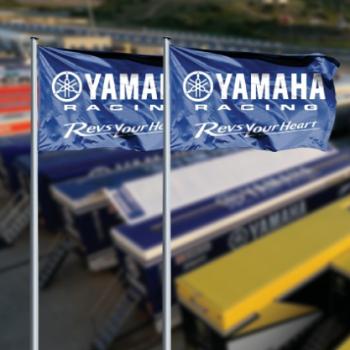 Yamaha exhibition flag outdoor Yamaha Advertising Pole Flag