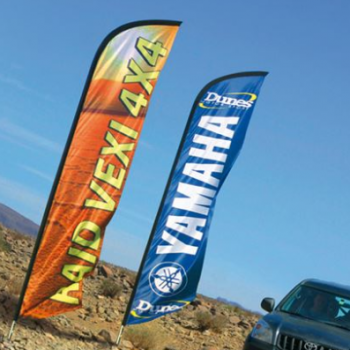 Printed Business Advertising Yamaha Polyester Swooper Flag