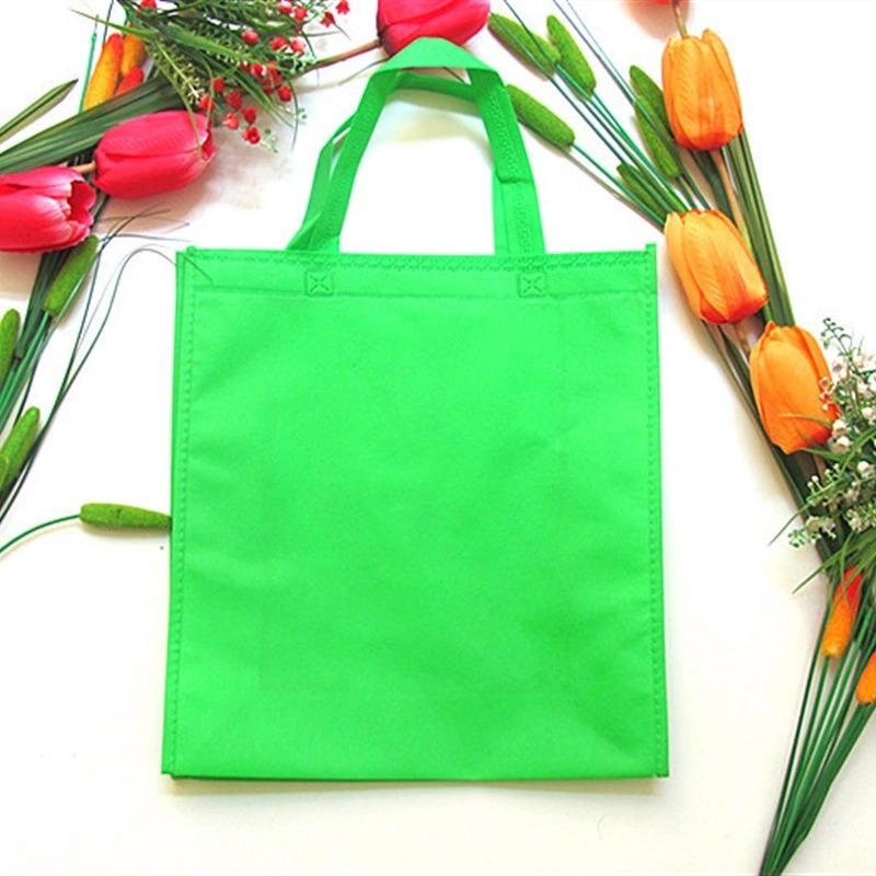Heavy Duty Custom Logo Laminated Recyclable Grocery Non Woven Shopping Bag Customer